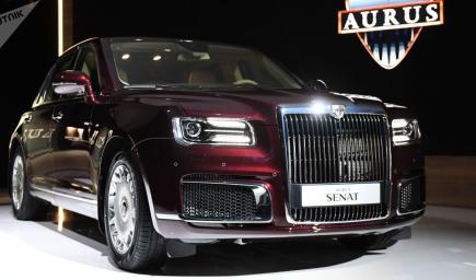 """السيارة الروسية """"Aurus"""" الفاخرة"""