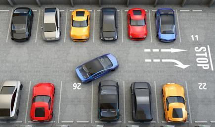 الوقوف بين سيارتين