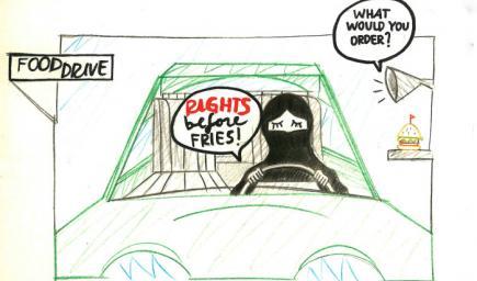رسومات المرأة السعودية وقيادة السيارات