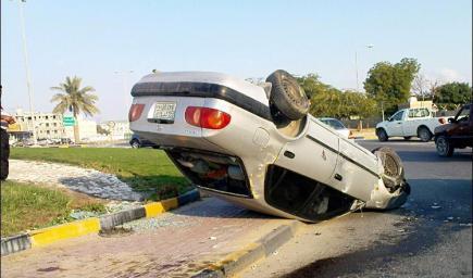 إنقاذ مواطنة حياة شاب، تعرض إلى حادث سير