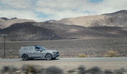 سيارة BMW X7 الاختبارية