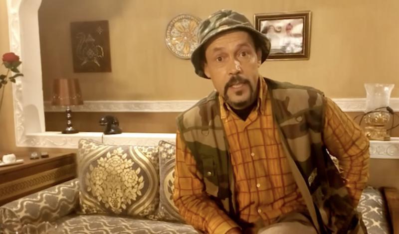بن عيسى ولقطة من أحد المسلسلات