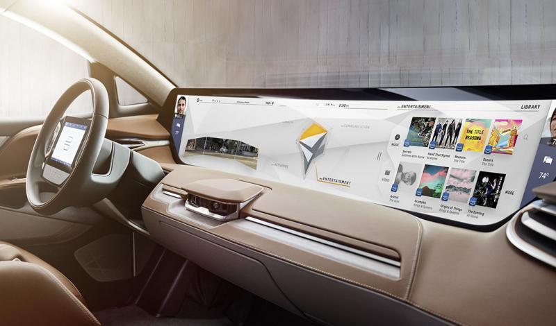 الصين تطلق أول سيارة كهربائية ذكية بشاشة عملاقة تعمل باللمس في 2018.